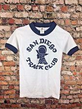Vintage 80s Youth Medium Tee Jays San Diego Ringer T Shirt Single Stitch Thin