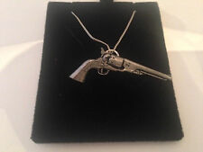 G17 Antique Revolver on a 925 sterling silver Necklace Handmade 16 inch chain