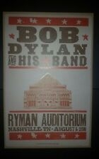 BOB DYLAN and HIS BAND Ryman 2011 HATCH SHOW PRINT Nashville Tour Poster Rare