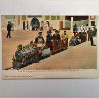 Antique Postcard View of The Miniature Railroad Dreamland Coney Island New York