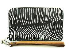 Authentic NWT FOSSIL Sydney Zip Around Wallet Zebra Print White/Black SL42739