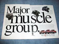 "1998 Dodge Ram Trucks 2 Page Ad ""Major Muscle Group"" Cummins V-10"