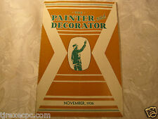The Painter and Decorator Nov 1936 magazine 1930's