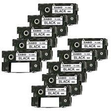 Set of 10 CASIO CW-50 CW-75 CW-100 BLACK CD Label Printer Ink Ribbons Cassette