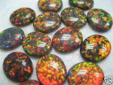 4pcs 7x5mm Oval Shape Synthetic Opal - Mexican Brown