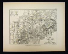 1855 Alison Military Map - Napoleon Battle of Fleurus 1794 - Hainaut Belgium