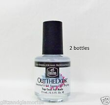 Inm Nail Out The Door Fast Quick Rapid Dry Top Coat .5oz/15ml ~ 2 bottles ~