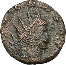 GALLIENUS son of Valerian I Ancient Roman Coin Fortuna Luck Cult  i41159