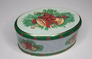 Vintage Meister Oval Tin Christmas made in Brazil