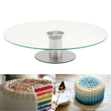 11.8'' Glass Cake Making Platform Turntable Rotating Stand Party Wedding Decor