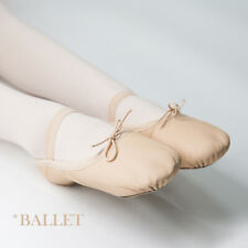 Ballet Dance Shoes Leather Split Sole Shoes Slippers Falts for Girls Child Women