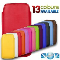 Premium Leather Pull Tab Pouch Case Cover Holster For Various Mobile Phone Apple