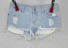 Azztro Exchange Junior's Ligh Wash Distressed Shorts Size 3