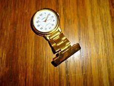 LORUS BY SEIKO GOLD PLATED LUMIBRITE NURSES FOB WATCH V501-X235 WORKING