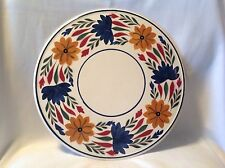 Vtg Cake Plate Server Maestricht Societe Ceramique Holland Delft Flowers Dutch