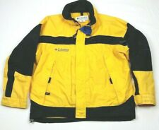 Vintage Columbia Yellow Black SHELL ONLY Ski Snow Jacket Large Mens