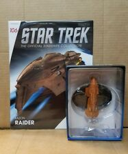 Star Trek Eaglemoss Starship Kazon Raider & magazine 106