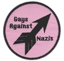 Gays Against Nazis Embroidered Patch G025P LGBTQ Antifa Anti Nazi Anti Racist