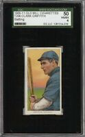 Very Rare 1909-11 T206 HOF Clark Griffith Batting Old Mill Cincinnati SGC 50 / 4