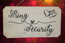 Wedding Ring Security Pageboy Sign. Funny Paige Boy Sign