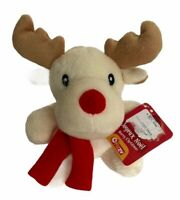 Fizzy Rudy Reindeer Plush Toy Cream Red Nose  7 inch France  Gift