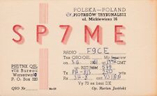 X248 Carte QSL Radio Amateur Opérateur SP7ME de Marian JASINSKI a PIOTROW Poland