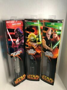 Lot of 3 Hasbro 2005 Star Wars Electronic Lightsabers Revenge of the Sith