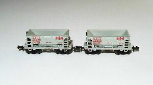 Two Minitrix N Scale Bessemer & Lake Erie Ore Cars