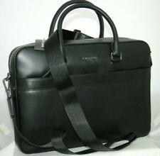 New Michael Kors Harrison Briefcase Black Burnished Leather Bag $498