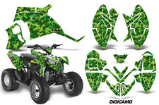 ATV Decal Graphic Kit Quad Wrap For Polaris Outlaw 90 110 All Years DIGICAMO GRN