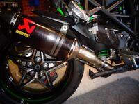 Kawasaki H2 SE & SX with ZX10R Headers, Stainless De-cat exhaust pipe & clamp