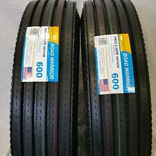 (2-Tires) 11R22.5 H/16 146/143M- New Steer Truck Tires 11225 (#600)