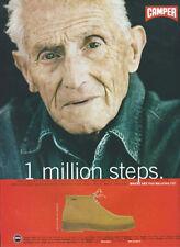 """Camper Industrial Schuhe"""" 1 Millionen Schritte"""" 1998 Magazin Anzeige #4435"""