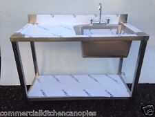 Commercial Catering Kitchen Stainless steel Sink, Single bowl,Left Hand1200x600