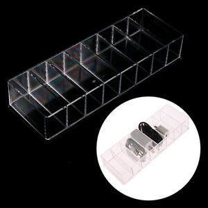 1pc Clear Acrylic Makeup Pressed  Tools Holder Eyeshadow Palette Box+