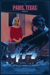 LAURENT DURIEUX - PARIS, TEXAS Regular Screen Print Poster /170 Wim Wenders