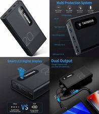 TAMOWA Powerbank 20000mAh, Alta Capacità Caricabatterie Portatile con LCD...