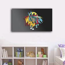 60×100×3cm Batman Canvas Print Framed Wall Art Home Decor Painting Kids Boy Gift