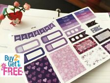PP166 -- Purple Winter Christmas Kit Planner Stickers for Erin Condren (23pcs)