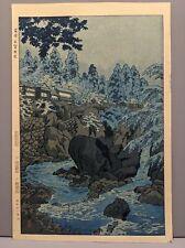 New listing Shiro Japanese Woodblock Print Water Rapids