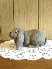 Grey Lop Eared Bunny Figurine Collectible Rabbit Statue