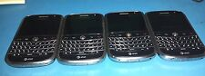 Lot of 4 Blackberry Bold 9000 2GB Black ATT For Parts Read below