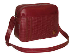 Dunlop - Men's Classic Gym Cabin School College Sports Shoulder Messenger Bag Burgundy