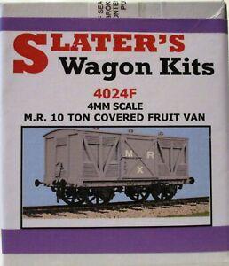 Slaters 4024F 4mm Scale M.R. 10 Ton Covered Fruit Van Plastic Kit 00 Gauge T48Po