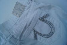TRUE RELIGION Damen Women stretch Jeans Hüft Hose 24/30 Gr.24 W24 L30 weiß TOP %