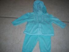Garanimals two piece girls jogging suit, 0/3 months, turquoise, great shape.