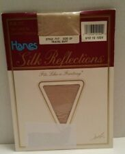 Hanes Silk Reflections Silky Control Top Sandalfoot Pantyhose SZ EF Travel Buff