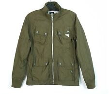 G STAR Raw Small Artic Quilted Overshirt Light Jacket Green Full Zip MultiPocket