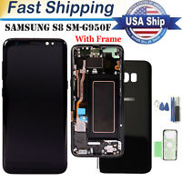 US For Samsung Galaxy S8 SM-G950F LCD Display Touch Screen Replacement + Frame