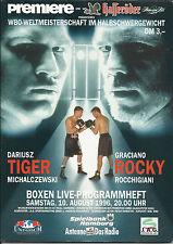 1996 Dariusz Michalczewski V Graciano Rocchigiani [i] programa de título mundial